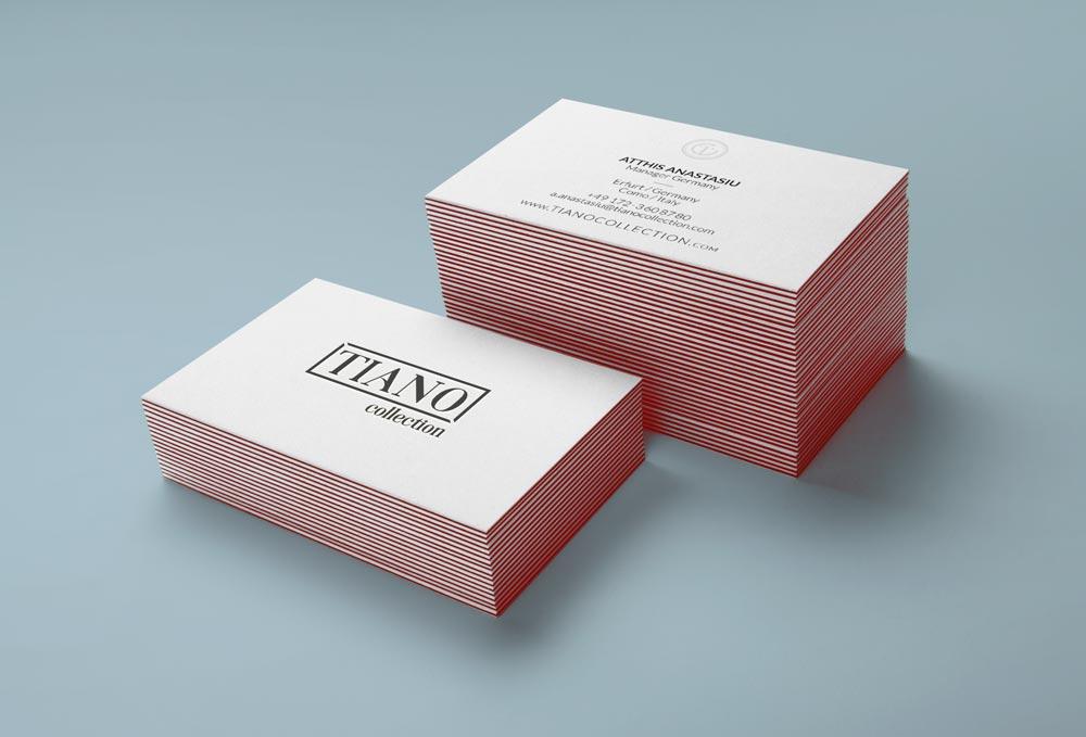 Visitenkarten Design Tiano Collections