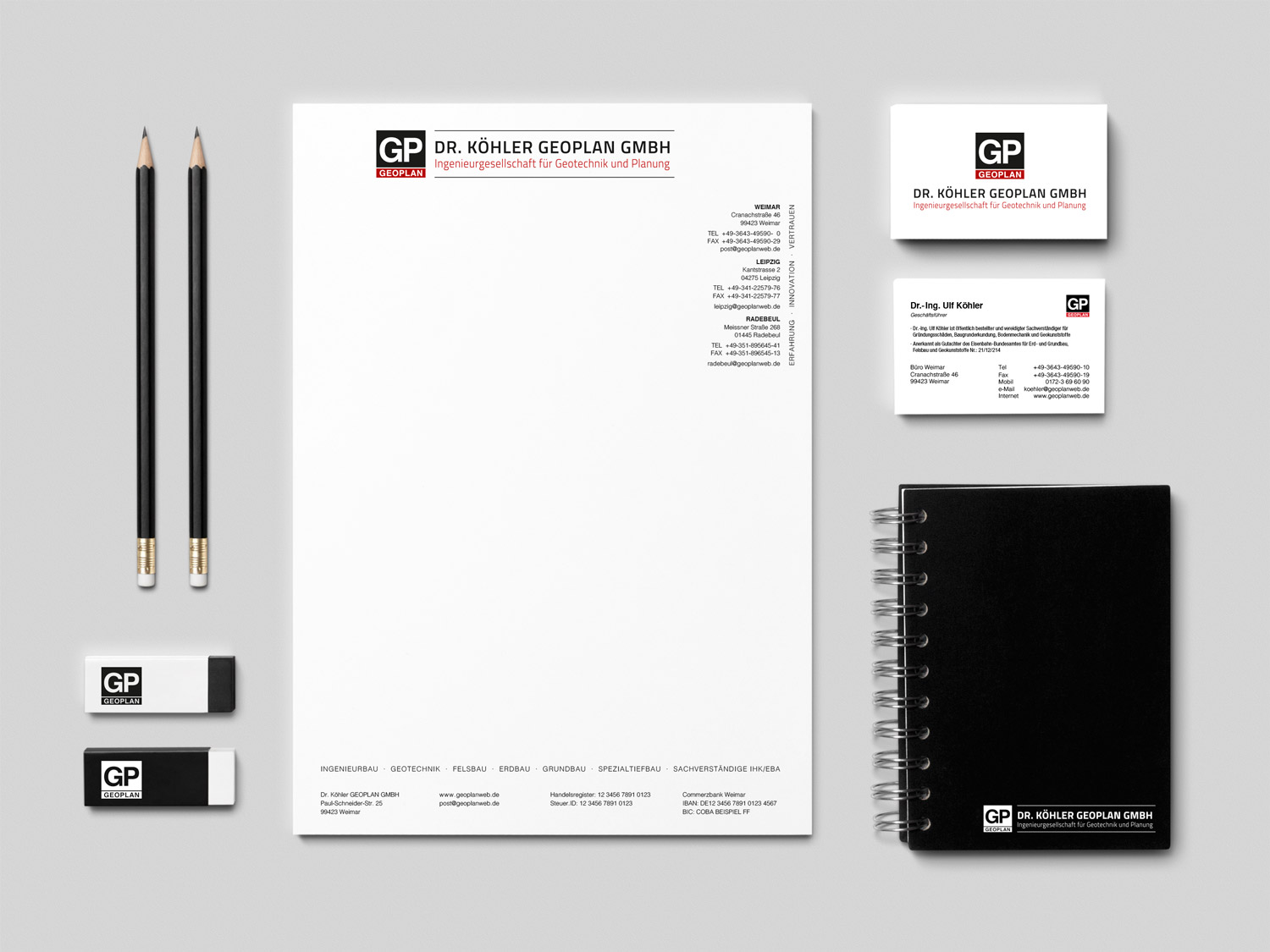 Corporate Design Dr. Köhler Geoplan GmbH