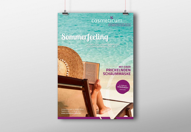 Plakatdesign Kosmetikstudio. Grafikstudio Lindner